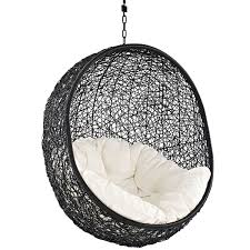 Indoor Hanging Swing Chair Egg Shaped Amazon Com Modway Encase Rattan Outdoor Patio Swing Chair