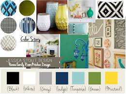 i like the navy turquoise yellow gray and green happy color