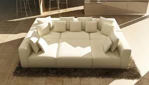 Modern Leather Sectional Sofas Divani Casa 206 Modern White Bonded Leather Sectional Sofa