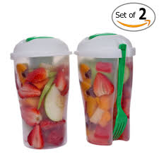 Water Bottle Storage Container Amazon Com Fresh Salad Container Serving Cup Shaker With Dressing