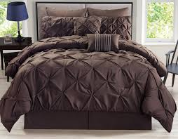 Pinched Duvet Cover 8 Piece Rochelle Pinched Pleat Black Comforter Set