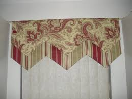 Kitchen Window Valances by Stripe And Paisley Morocan Red Taupe U0026 Cream Kitchen Window