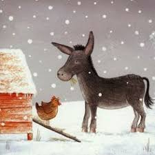pack of 6 charity christmas cards illustrated with ed the donkey