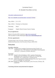 Receptionist Skills For Resume Cv Dr Alexander Van Aken Academisch