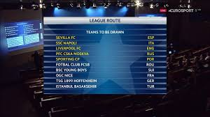 futbol uefa champions league 17 18 play off draw 04 08 2017