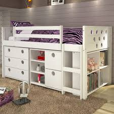 Bunk Bed With Storage Circles Loft Bed With Storage Cappuccino Or White