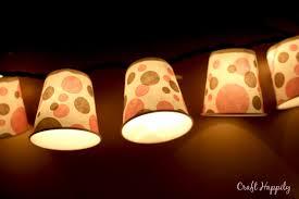 craft happily diy dixie cup light garland