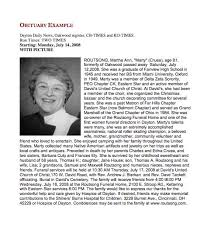 gallery for obituary examples writing obituaries templates