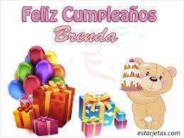 imagenes de cumpleaños para brenda feliz cumpleaños brenda 4 imágenes de estarjetas com