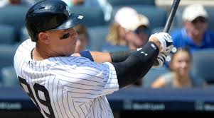 Aaron Judge Made His Mlb Debut In Center Field - watch yankees aaron judge hits monster home run si com
