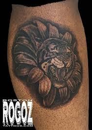 tiger flower morph by boston rogoz tattoos
