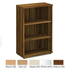 Beech Bookcases Uk 1200mm High Wooden Office Bookcase With 2 Shelves In White Beech