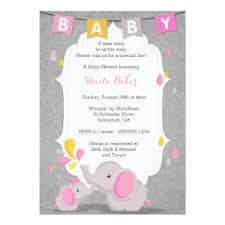 babyshower invitations pink and grey elephant baby shower invitations yourweek