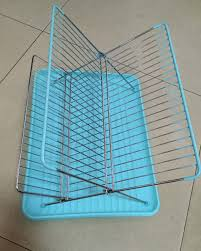 Dishes Rack Drainer Chrome Folding Dish Rack Steel Folding Dish Drainer Rack Sink Dish
