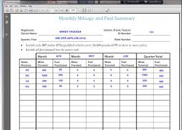 Ifta Spreadsheet Mileage And Fuel Purchase Reports