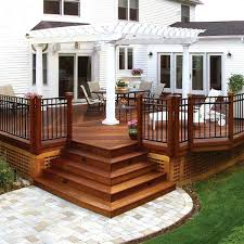wood patio designs pictures heres another covered patio featuring