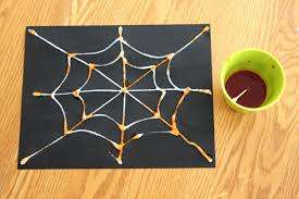 toddler approved salt painted spider web