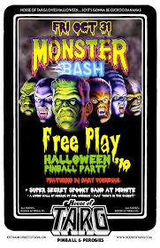 Halloween Monster Bash by Monster Bash Halloween Freeplay Pinball Party U2014 House Of Targ