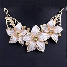 flower necklace earrings images New jewelry sets necklace earrings crystal enamel flower african jpg