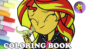 mlp eg coloring pages sunset shimmer and ray coloring book page mlpeg my little pony