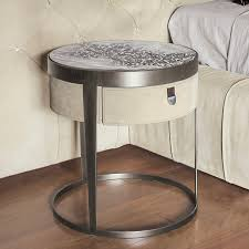 Bedroom Side Tables by Bed Side Table Contemporary Leather Ebony Ring By Giuseppe