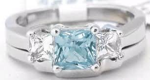 engagement rings without diamonds princess cut aquamarine engagement ring without diamonds with