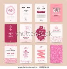 cosmetics shop business card beauty parlor stock vector 569195809