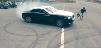 replica rolls royce rolls royce wraith goes drifting becomes a taxi in russian