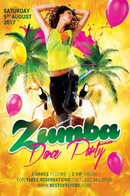 zumba dance party free flyer template download for photoshop
