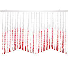 beautiful home decor acrylic beaded valance curtain door screen
