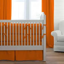 Orange Crib Bedding Solid Orange Baby Crib Bedding Collection Carousel Designs