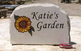 personalized garden stones sunflower garden w name