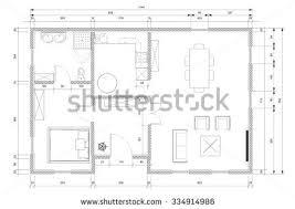 architect plan white architect plan personnal house construction stock illustration