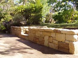 Terraced Retaining Wall Ideas sandstone wall structural landscaping pinterest walls