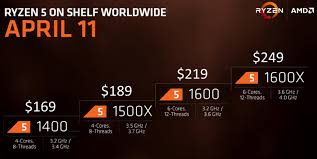 Price And Spec Confirmed For by Amd Ryzen 5 Cpus Arriving On 11th April In Flagship Ryzen 5 1600x
