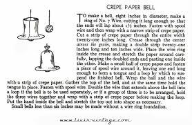 livin vintage vintage christmas craft week 1930s crepe paper bells