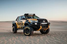 hilux toyota turns the hilux pickup into a tonka truck for the young at