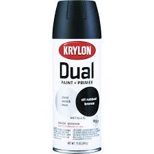 Semi Gloss Black Spray Paint Krylon Dual Superbond Oil Rubbed Bronze Metallic Paint Primer