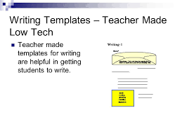 assistive technology writing composing written material low tech