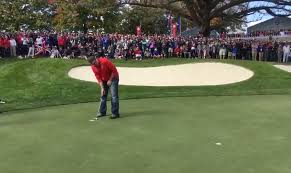 heckler gets called out to make putt at ryder cup sinks it and