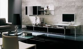 Modern Wall Unit Overwhelming Modern Wall Unit With Huge Plywood Board Splash Back