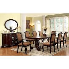 furniture of america berkshire 7 piece round dining set with