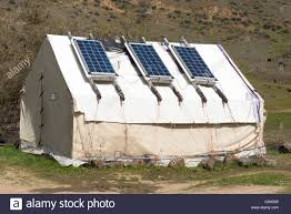 solar panels on a wall tent in the imnaha river canyon northeast