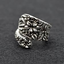 metal rings jewelry images 12pcs medieval vintage spoon rings jewelry for women engraving jpg