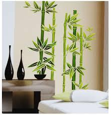 wandtattoo fã r wohnzimmer fensterbild wandtattoo bambus strauch fensterbilder