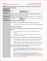 sample standard operating procedure template