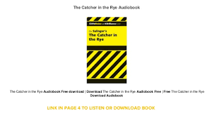 the catcher in the rye audiobook free mp3
