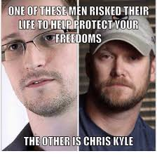Chris Kyle Meme - one of these men risked their life to help protect your freedoms