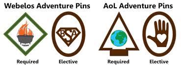 arrow of light scouting adventure adventure pins jpg