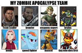 Zombie Team Meme - image 630822 my zombie apocalypse team know your meme